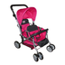 york doll collection twin stroller pinkblack