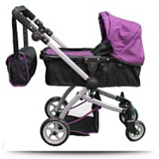 Buy Babyboo Deluxe Doll Pram Color Purple