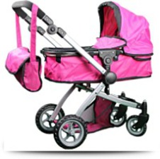 Buy Babyboo Deluxe Doll Pram With Swiveling
