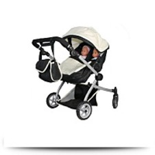 Buy Babyboo Deluxe Twin Doll Pramstroller