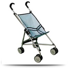 Buy Blue Umbrella Doll Stroller With Swiveling