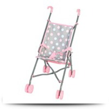 Cute Polka Dot Baby Doll Umbrella Stroller