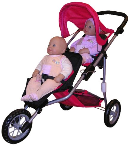 Compare - Toy Cute Baby Doll Stroller vs Doll Twin Jogging Stroller