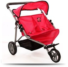 Doll Twin Stroller For Ages 2