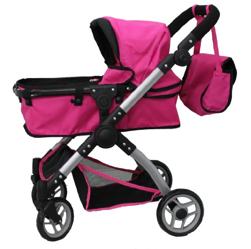 Mommy And Me 2 In 1 Deluxe Doll Stroller - Toy Baby Strollers