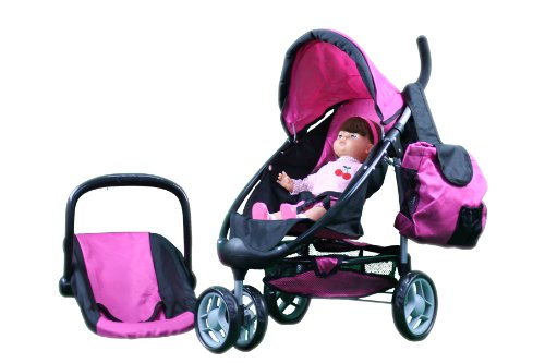 Mommy And Me 2 In 1 Doll Stroller - Toy Baby Strollers