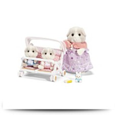 Patty And Padens Double Stroller Set