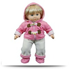 Buy Pink Fleece Overall Set For 15 American