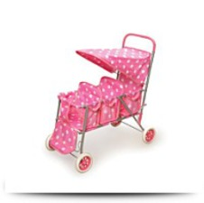 Polka Dots Triple Doll Stroller