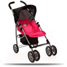 Swivel Wheels Single Doll Stroller