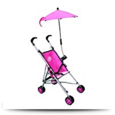 Buy Umbrella Pink Doll Stroller With Folding