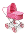 badger basket polka dots doll pram