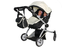 babyboo deluxe twin doll pramstroller white