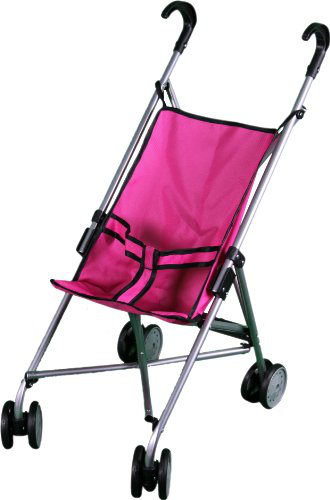 Mommy And Me Doll Stroller With Swiveling Wheels - 9302W