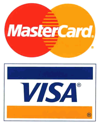 We Accept All Major Bank cards